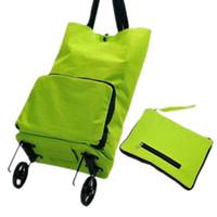ingrosso sacchetti per chiusura lampo-LHLYSGS Brand Women Fashion Wheels Duffle Bagagli Borsa Pieghevole Borse da viaggio di grande capacità Abbigliamento Organizzatore Tug Bag