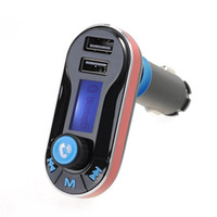 Wholesale Multifunctional Usb Adapter - Wireless Multifunctional Bluetooth Handsfree Car Kit  Adapter FM Transmitter Calling MP3 Player Dual USB Ports for Phone charge