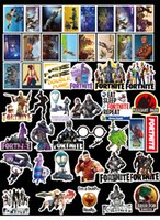 Wholesale luggage for laptops for sale - 46pcs Mix Stickers Fortress Night Cartoon FORTNITE Style For Laptop Skateboard Luggage Styling Decals Waterproof For Gift