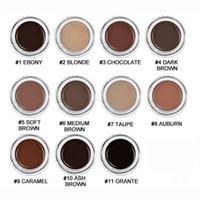 yeni makyaj renkleri toptan satış-Yeni Kaş Pomad Kaş Arttırıcılar Makyaj Kaş Perakende Paketi ücretsiz nakliye Ile 11 Renkler DHL