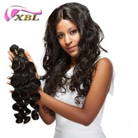 Wholesale 24 piece hair weave online - XBL Different Hair Style Virgin Human Hair Weave Peruvian Human Hair Weave Within Top Lace Closure