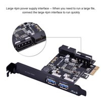 ingrosso computer interni-STW-3002 Ad alta velocità 5 Gbps 20 pin PCI-E Express a 2 porte Scheda di espansione USB 3.0 Scheda interna 19 pin per computer desktop Nuovo