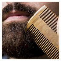 Wholesale Fine Beard - Natural Wooden Beard Comb Pocket Hair Brush High Quality Pocket Comb Ebony Wood Hair Comb With Leather Case High Quality