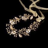 pedaços de cabelo de casamento venda por atacado-Deixa o Casamento Acessórios Para o Cabelo de Noiva Cabelo De Noiva Videira Headband tiaras de cristal e coroas Cabeça Peça decoração de cabelo