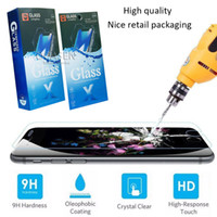 Wholesale Nice Apple - For iPhone X 8 7 6S Plus Samsung J7 Tempered Glass Screen Protector 0.33mm 2.5D 9H Anti-shatter With Nice Paper Package