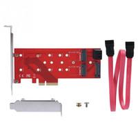 ssd kartları toptan satış-Mini PCI-E 4X 3-Port NGFF 2B / M ANAHTAR DDR Adaptör PC Bilgisayar SSD Adaptör Kartı
