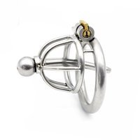 Wholesale birdlock male chastity for sale - Group buy New stainless steel Lock cagee Male chastity with catheter birdlock male belt bound chastity device penis bondage catheter