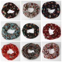 Wholesale cotton voile shawls - Hot sale wonderful women ladies owl pattern print scarf warm wrap shawl scarves women wrap lady shawl soft voile