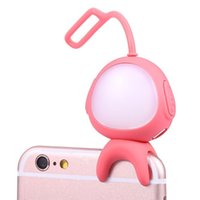 Wholesale flash photos online - Rechargeable Portable Selfie LED Ring Fill Light Flash Photo Photography Wireless Bluetooth for iPhone Plus Samsung S7 S7 Edge