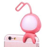 ingrosso bordo principale illuminato-Selfie portatile ricaricabile LED Anello di riempimento Luce flash Fotografia Fotografia Wireless Bluetooth per iPhone 6 7 Plus Samsung S7 S7 Edge