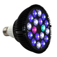 Wholesale Spider Light Bulbs - Spider Cob 18 Watt Aquarium Light Bulb PAR38 E27 E26 Full Spectrum Grow LED Light for Coral Reef Fish Nano Tank Plant Growing