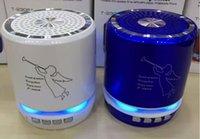 ingrosso microfoni della porta usb-Wireless Musicity all'ingrosso 5w Altoparlante portatile Bluetooth con luce LED Porta USB SD Radio FM Microfono Musica per basso