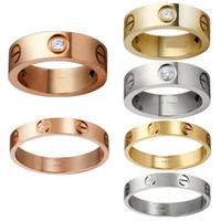 Wholesale 316L Titanium steel nails rings lovers Band Rings Size for Women and Men brand jewelry NO original box