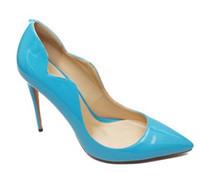 sapatos formais perto do pé venda por atacado-2018 Stilettos Mulheres Tamanho Grande Ajuste Largo Pointy Magro De Salto Alto Fechado Toe Vestido Formal Sapatos Da Bomba para Senhoras de Escritório