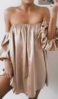 neue sexy sommerkleider großhandel-2018 neue reizvolle Frauen-Kleid-trägerlose Sommer lose beiläufige feste schwarze graue Mini-Strand-Kleid Frauen Kleidung