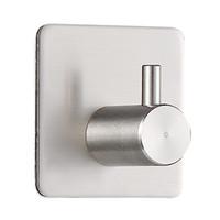 ingrosso docce a parete-Invisibile in acciaio inox singolo gancio singolo parete doccia bagno accappatoio appendiabiti ganci accessori bagno 4 3my2 bb