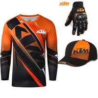camisas de corrida de bicicleta venda por atacado-Para KTM Racing Team Motocicleta T-Shirt de Manga Longa Homens de Verão Da Bicicleta Da Sujeira Correndo Tops Motocross Esportes Ao Ar Livre ATV MX Camiseta