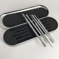 ingrosso vaporizzatori a base di erbe a secco-Scatola di alluminio di alta qualità pacchetto GR2 titanio Dabber Wax atomizzatore in acciaio inox Dab strumento titanio Nail Dabber strumento secco erba vaporizzatori