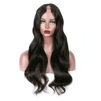 Wholesale Remy U Part Wig - U Part Human Hair Wigs Body Wave 100% Brazilian Remy Hair Middle Part 1*3 U Part Wig Natural Color For Women Free Shiping