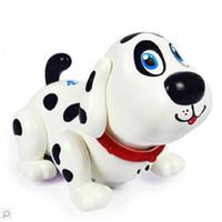 ingrosso cani leggeri-FARFEJI Intelligente Passeggino elettronico per animali domestici Cane da compagnia Cucciolo di cane Amico regalo partner con musica leggera Giocattoli per cani per bambini Bambini