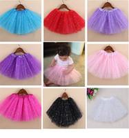 parıltı dansı elbiseleri toptan satış-Sıcak Satış Kızlar Sparkle Glitter Pul Yıldız Dans Bale Tül Tutu Etek Prenses Elbise Tutu Elbise Ücretsiz kargo