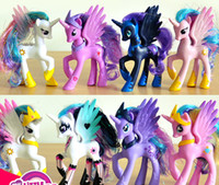 Wholesale my little pony - 14cm My little Pony Action Figures Cartoon Movie figurine ponies princess Celestia Luna kids Doll Toy Gifts cake topper decor