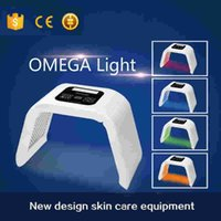 Wholesale Led Light Skin Care Equipment - PDT Omega Light With 4 Color Led Omega Light LED Skin Care Therapy Machine Beauty Equipment