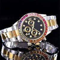 Wholesale Pink Designer Watches Women - relogio aaa quality diamond watches women top luxury brand fashion Ladies Designer Automatic calendar Black Dial Gold and silver steel clock