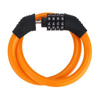 Wholesale combination chain lock for sale - Group buy Bike Luminous Lock Feet Basic Self Coiling Resettable Combination Bicycle cable Locks with Mounting Bracket with password code