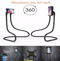 tembel ayraç ipad toptan satış-Esnek Tembel Telefon Tutucu Kolye Tembel Dirsek 1.6 M Smartphone iPad Hava Tablet Için Tutucu Standı 3.5-9.7 inç 360 döndürmek