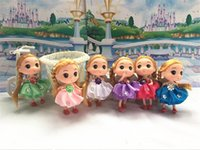 Wholesale wholesale dolls for sale - Hot Sales Mixed Style 12CM Mini Ddung Doll Toy For Girl Child Keyring Pendants Keychail Plastic Doll Toy Barbie Dolls For School Bags