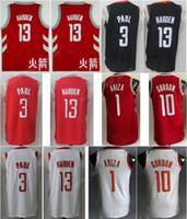 Wholesale Team Edition - 2018 Basketball Chinese City Edition Jerseys 13 James Harden 3 Chris Paul 1 Trevor Ariza 10 Eric Gordon Jersey Team College Black Red White