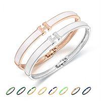Wholesale cuff bracelets for sale - H Bracelets for Women and Men s Bracelet Jewelry Open Cuff Bangles Men Bracelets H Buckle Classic Brand Bracelets