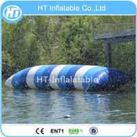 flotadores de agua inflable envío gratis al por mayor-Envío Gratis Loco 5X2M Agua Inflable Catapulta Blob Agua Deporte Juguete Inflable Salto Almohada Flotación Blob de Agua para Adultos