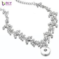 glänzender knopf großhandel-Glänzende volle Rhinestones-Knopf-Anhänger-Halskette für Frauen LSNP151-153