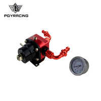 Wholesale PQY fpr AN6 Fitting DIY Black Red EFI fuel pressure regulator Universal with PUSH ON LOCK HOSE END FITTINGS