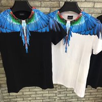 ingrosso camicia blu nuovo stile-Nuovo Marcelo Style T Shirt Burlon Uomo Donna Feather Blue Ali MB T-Shirt MAGAZINE Tee T-Shirt S-2XL