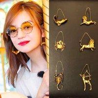 ingrosso monili animali dell'oro 18k dell'oro-Rongho nuovo design Vintage Metal Constellation Orecchini a goccia per le donne Orecchino d'oro animale Ciondola gioielli vintage orecchino