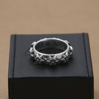 Wholesale unique style engagement rings - Brand new 925 sterling silver jewelry vintage American style designer band rings for men & women star shape unique ring gift free shipping