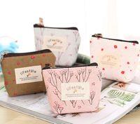 ingrosso stile borsa dell'organizzatore della borsa-New fashion kids foral LIFE STYLE donne carino borsa di tela borsa organizer borsa studente moneta sacchetto di alta qualità