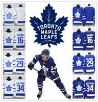 nuevas camisetas de marca al por mayor-2018 NUEVA MARCA ADI Toronto Maple Leafs cosido 16 Mitch Marner Jersey 34 Austen Matthews ICE Hockey 29 Nylander 31 MARLEAU SPORT
