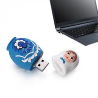 ingrosso bambole di memoria-Simpatica penna russa USB Flash Drive Pen Driver Matryoshka Memory Stick 16/32 / 64GB Pendriver XXM8