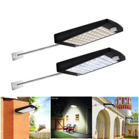Wholesale New Solar streetlights Outdoor LED Motion Sensor Solar Wall Light Remote Controller Waterproof Security Lamp for Street Garden Yard