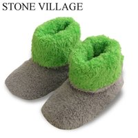 Wholesale Coral Plush - 2017 New Patchwork Soft Plush Warm Home Slippers Sewing Handmade Floor Slippers Women Coral Fleece Indoor Shoes Women 3 Colros