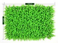 ingrosso recinzione in plastica-Ambiente Prato erboso artificiale Milano Eucalyptus Prato a prova di plastica 60 * 40cm Outdoor Edera Recinzione Cespuglio Pianta da giardino Decorazioni da giardino