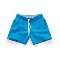 ingrosso swimwear più breve mens-Mens costume da bagno spiaggia sport asciugatura rapida tronchi da bagno uomo pantaloncini da bagno per gli uomini costumi da bagno beach wear surf boxer slip DH143