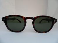 gafas de sol de importación al por mayor-Calidad súper estilo de estrella HD gafas de sol polarizadas L M S Johnny Depp Italia-importada gafas pura-tablón 3sizes caso-precio conjunto completo de toma de OEM