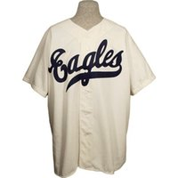 Wholesale vintage eagle - Newark Eagles 1946 Home Jersey 100% Stitched Embroidery Logos Vintage Baseball Jerseys Custom Any Name Any Number Free Shipping