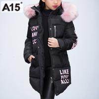 kızlar uzun boynuzlu kışlık ceket toptan satış-Çocuk Ceketler Sıcak Kalın Giyim Parka Kız Kış Çocuklar Kızlar için ceketler Genç Giysileri Uzun Kapüşonlu Ceket Boyutu 8 10 12 Yıl
