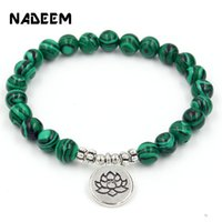 Wholesale lapis charm beads resale online - Antique Silver Buddha Life Tree Lotus Charm Bracelet Natural Lapis Stone Bead Bracelets For Men Women Pulseras Hombre